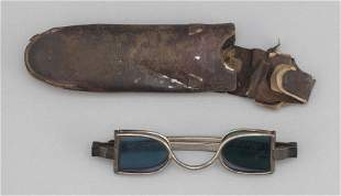 PAIR OF J. PETERS COIN SILVER FOUR-LENS EYEGLASSES