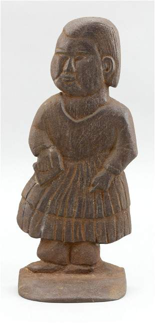 CAST IRON DOORSTOP IN THE FORM OF A WOMAN 20th Century