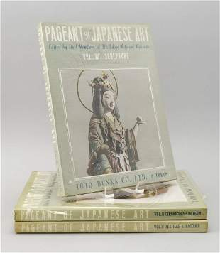 THREE VOLUMES OF PAGEANT OF JAPANESE ART