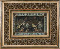 """PERSIAN PAINTING Late 19th/Early 20th Century 3"""" x 5""""."""