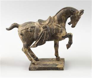 CHINESE TANG DYNASTY-STYLE BRONZE HORSE Early 20th