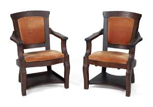 TWO ARMCHAIRS, PURPORTEDLY FROM THE HOUSE OF