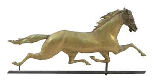 COPPER AND ZINC RUNNING HORSE WEATHER VANE 19th Century