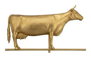 GILT COW WEATHER VANE Late 19th/Early 20th Century