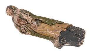 CARVED WOODEN LADY IN THE STYLE OF A FIGUREHEAD Late