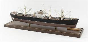 FINE CASED SCALE MODEL OF AN AMERICAN LIBERTY SHIP IN