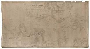 BLUEBACK CHART OF ST. GEORGE'S CHANNEL, THE BRISTOL