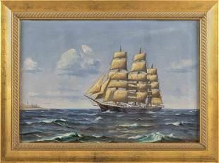 AMERICAN SCHOOL (20th Century,), The clipper ship