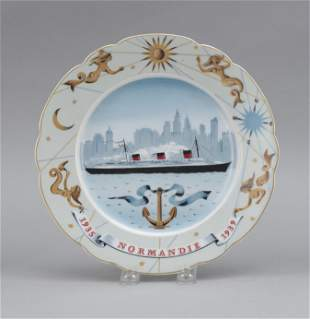 "HAVILAND LIMOGES COMMEMORATIVE PLATE FOR THE ""S.S."