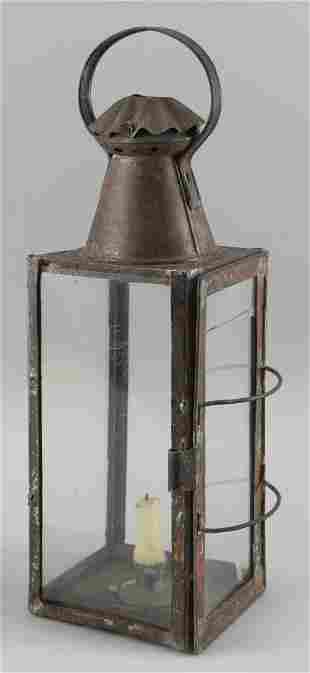 TIN BARN LANTERN First Half of the 19th Century Height
