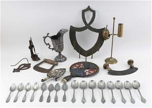 TWENTY-FIVE ASSORTED METAL ITEMS 19th and 20th Century