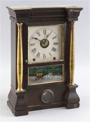 SETH THOMAS HALF-SIZE PILLAR CLOCK 19th Century Height