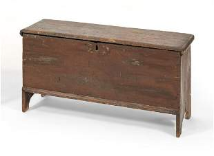 SIX-BOARD BLANKET CHEST America, Early 18th Century