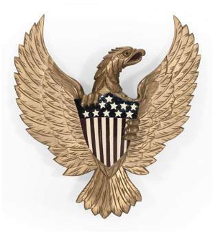CARVED AND PAINTED AMERICAN EAGLE Contemporary Height