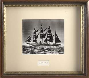 "MORRIS ROSENFELD BLACK AND WHITE PHOTOGRAPH ""SEA CLOUD,"