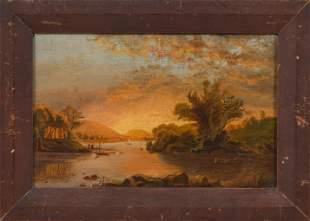AMERICAN SCHOOL (Late 19th Century,), Luminous river