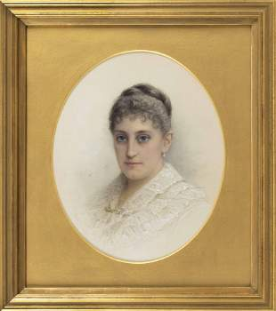 ALFRED M. TURNER (New York, 1852-1932), Portrait of a