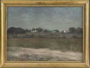 AMERICAN SCHOOL (Late 19th Century,), View of a town