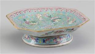 CHINESE FAMILLE VERTE PORCELAIN OCTAGONAL TAZZA Second