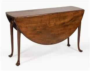 "GEORGIAN DROP-LEAF TABLE Mid-18th Century Height 29""."