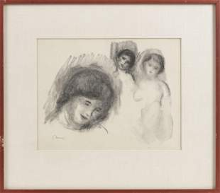 "PIERRE AUGUSTE RENOIR (France, 1841-1919), ""La Pierre"
