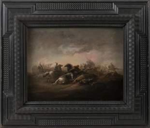 CONTINENTAL SCHOOL   18th Century  Battle scene at