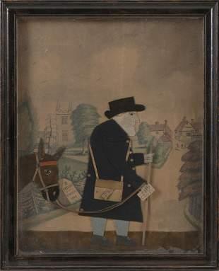 GEORGE SMART   England, 1774-1846  Cut fabric, leather