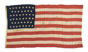 LARGE 46-STAR U.S. FLAG  Cotton. Sewed-in grommets.