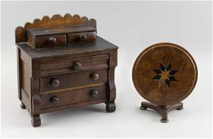 TWO PIECES OF MINIATURE FURNITURE   Late 19th/Early