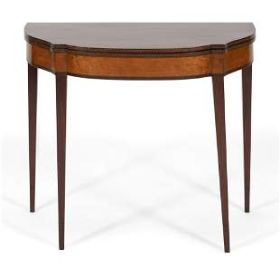 HEPPLEWHITE CARD TABLE   Early 19th Century  In