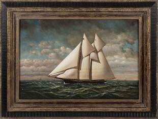 D. TAYLER   Contemporary  Two-masted schooner. Signed