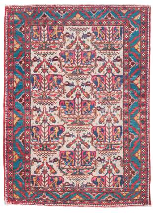 TURKISH RUG: 3�10� X 5�3�   First Half of the 20th
