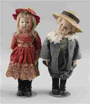 TWO SCHOENHUT DOLLS