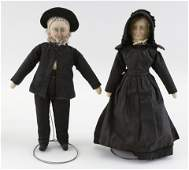 PAIR OF CLOTH PENNSYLVANIA AMISH DOLLS