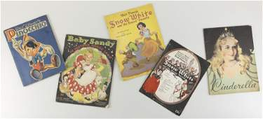 FOUR DISNEY SOFT-COVERED BOOKS