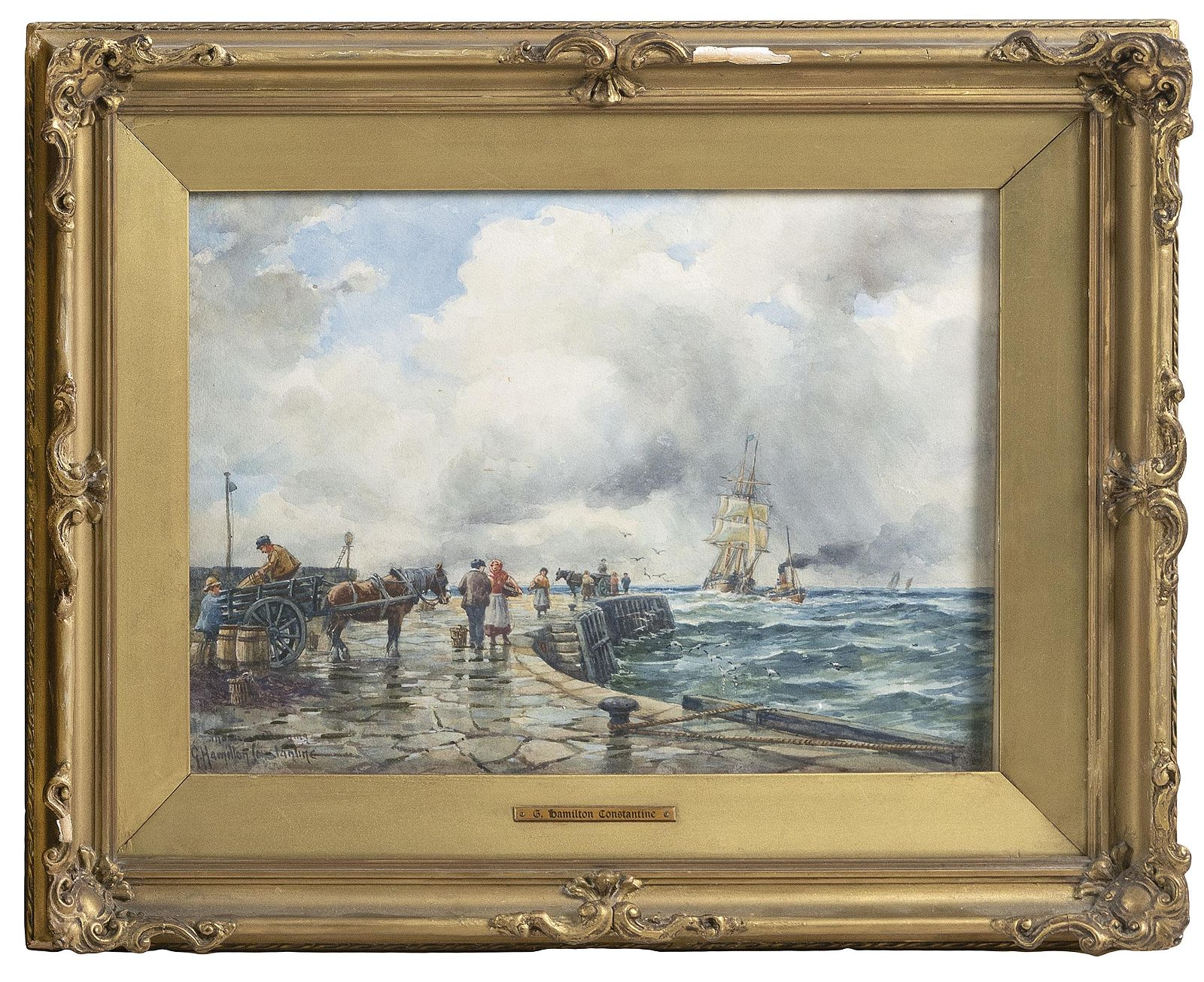 GEORGE HAMILTON CONSTANTINE England 1875-1967 Bustling