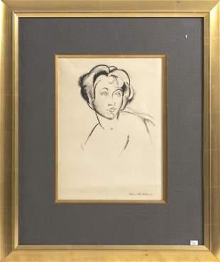 KIMON NICOLAIDES New York/France 1892-1938 Portrait of
