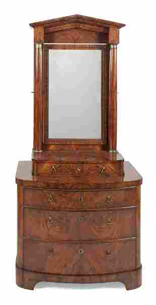 ENGLISH TWO-PART DRESSING CHEST Mid-19th Century In