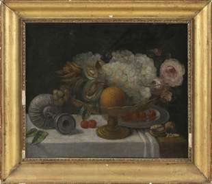 CONTINENTAL SCHOOL 19th Century Still life of fruit,