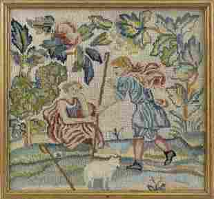 PICTORIAL NEEDLEWORK Late 19th Century Depicts two