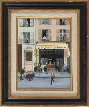 "ELIANE THIERRY France 20th Century ""Au Petit Fer a"