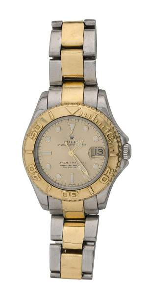 ROLEX OYSTER DATE PERPETUAL YACHTMASTER STEEL AND 18KT