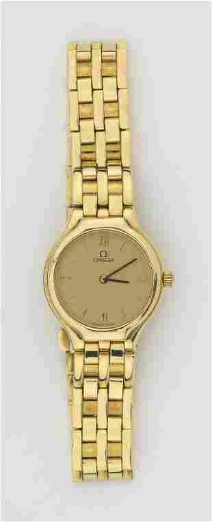 OMEGA 18KT GOLD DE VILLE LADY'S WRISTWATCH Gold-tone