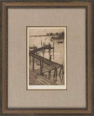 "SUSAN BOOTH TITUS (America, 1940-2016), ""Pier"".,"