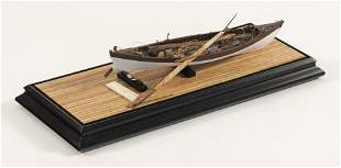 CASED MODEL OF A BEETLE WHALEBOAT 20th Century Case