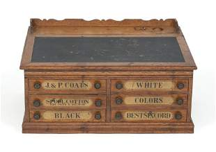 J. & P. COATS SPOOL CABINET Late 19th Century Height