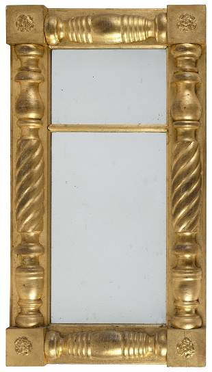 FEDERAL HALF-COLUMN MIRROR America, Circa 1825 Height