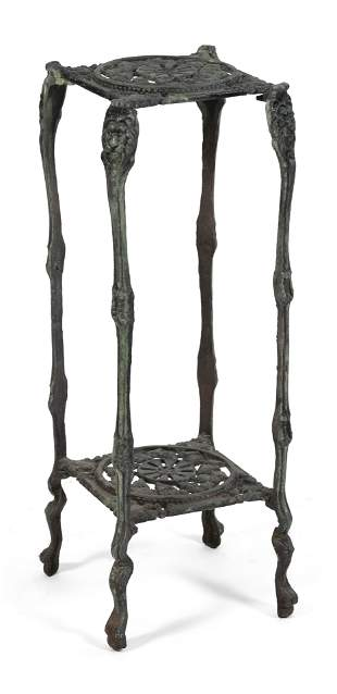 VINTAGE CAST IRON PLANT STAND Mid-20th Century Height