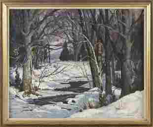 ROGER DENNIS (Connecticut, 1902-1996), A meandering