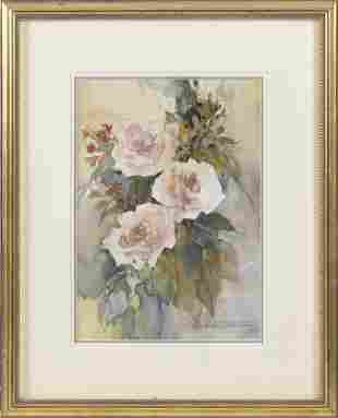 """ROSALIND OESTERLE (America, Contemporary), """"Roses"""".,"""